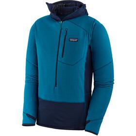 Patagonia R1 Pullover Hoody Herre balkan blue